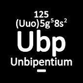 Periodic Table Element Unbipentium Icon. Vector Illustration. poster