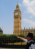 London policeman under Big Ben