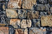 Granite Wall Texture , Seamless Texture, Masonry. Day, Multi-colored Granite Natural Stone, Pieces O poster