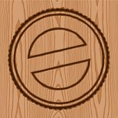 wreath seal brand wood pattern background