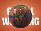Global Warming Result Seen Beyond Text Before And After Theme For Global Warming. 3d Illustration. S poster