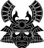 Fearsome Monochrome Samurai Mask