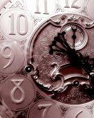 Sepia Grandfather Clock