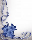 Blue Roses Valentine Or Wedding Invitation