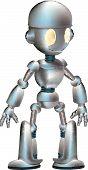 Lindo Robot A ilustración de un Robot brillante lindo de la historieta