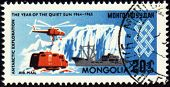 The Study Of The Antarctic On Post Stamp