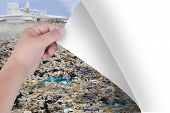 Change The World With Our Hands. From Pollutants To Natural Landscapes Or Trees. Inspiration For Env poster