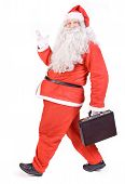 Santa Claus with suitcase