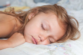 picture of goodnight  - portrait of a cute little girl sleeping - JPG