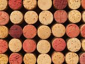Used Wine Corks Pattern For Background