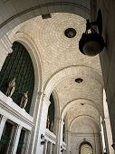pic of amtrak  - Archways at Union Station in Washington DC - JPG