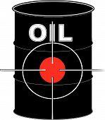 Barrel Black Oil With Crosshair Target.