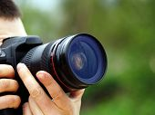 pic of close-up shot  - photographer shots with SLR camera close up - JPG