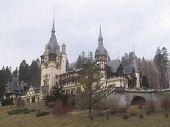 Peles Castle In Carpatian Mountains