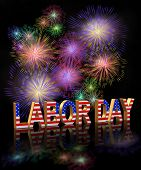 Labor-Day Fireworks 3d
