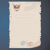 Blank Top Secret Document. Template for your Text and Design