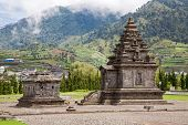 stock photo of arjuna  - Dieng temple Arjuna  complex plateau National Park Wonosobo Central Java Indonesia - JPG