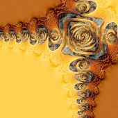 Abstract Twirly Yellow Brown Backrgound