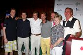 LOS ANGELES - APR 15:  Jack Wagner, with sons Harrison and Peter, Dennis Wagner and family at the Jack Wagner Celebrity Golf Tournament  at the Lakeside Golf Club on April 15, 2013 in Toluca Lake, CA