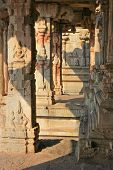 Some Beautiful Pillar Of The Krishna Temple In Hampi
