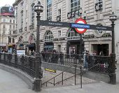 LONDON- APRIL 15. Londons famous underground train network, the oldest in the world, celebrates its