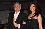 NEW YORK, NY - APRIL 16: TV personality Julie Chen and Leslie Moonves attend Vanity Fair Party for t