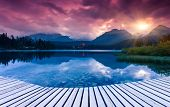image of mountain-high  - Mountain lake in National Park High Tatra - JPG