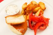 stock photo of ermine  - Fried cheese - JPG