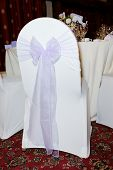 Chair Cover At Wedding Reception