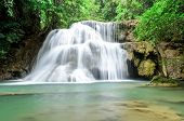 Waterfall In Deep Jungle