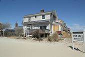 Destroyed beach property for sale in devastated area six months after Hurricane Sandy
