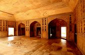 Agra red fort sha Jahan living room