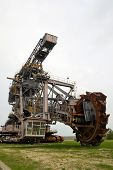 Coal digger is in a disused mine
