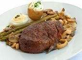 A  Tenderloin Steak Mignon  Grilled With Vegetables