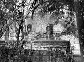 picture of conquistadors  - Mayan ruins of Chichen Itza in Yucatan Mexico - JPG