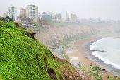 Rainy day in Miraflores, Lima, Peru, South America