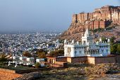 picture of mausoleum  - Jaswant Thada mausoleum in Jodhpur - JPG