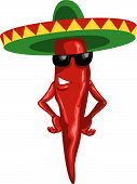 pic of chili peppers  - vector cartoon chili pepper for your design - JPG