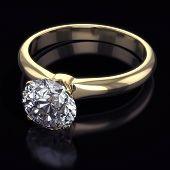 Luxury golden ring