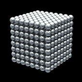 Estructura metálica de cubo de bolas