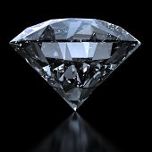Shiny Diamond With Clipping Path