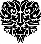 illustration of Lion face tattoo