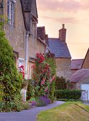 Cotswold Cottages At Sunset