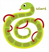 Board Game For Children - Snake