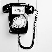 picture of slang  - Retro Versus Modern Telephone Concept - JPG