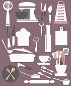stock photo of canteen  - kitchen utensils - JPG