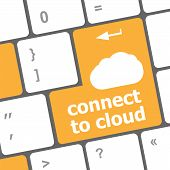 Connect To Cloud, Computer Keyboard For Cloud Computing