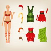 Set of Christmas clothes