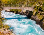Huka Falls On The Waikato River Near Taupo