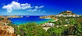 beautiful Greek islands series - Rhodes , Lindos bay